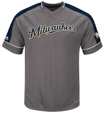 Milwaukee Brewers MLB Mens Dominant Campaign Cool Base Jersey Big & Tall Sizes