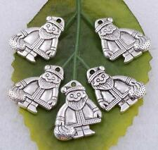 Wholesale 5pcs/10pcs Tibet Silver lovely Santa Claus Charm Pendant 19x15mm#A5313