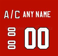 IIHF Olympic Hockey 2010 Team Canada Red Jersey Customized Number Kits un-sewn