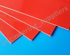 0.5mm Thick Red High Impact Polystyrene HIPS Plasticard Sheet A5 A4 A3