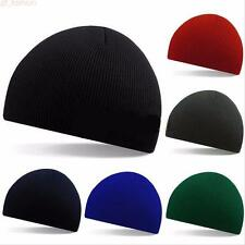Unisex Men Women Beanie Hat Hip-Hop Wool Knitted Ski Cap Skull Warm Winter Cuff