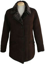 Ladies April Suede Sheepskin Coat - Brown Sheepskin Jacket