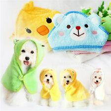 Pets Dog Cat Puppy Doggy Towel Cute Bathrobe Cartoon Absorbent Pet Bath Towel Bl