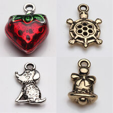 2/5/10PCS Straberry Tortoise Bell Tibetan Silver Charms Pandants Jewelry Making