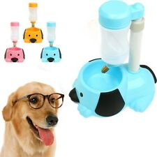Automatic Water Bottle Feeder Hanging Plastic Pet Dog Cat Water Feeder Dish Bowl