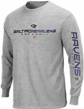 Baltimore Ravens NFL Team Apparel Dual Threat Long Sleeve Mens Shirt Big Sizes