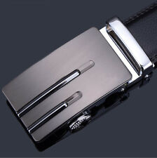 Luxury Men's Genuine Leather Automatic Buckle Black Waist Strap Belt Waistband