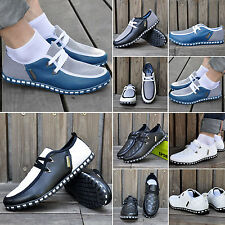 2016 Men Casual Mesh+Synthetic PU Leather Sneakers Lace-up Espadrille Loafer Hot