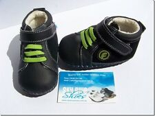 Boys Black Leather Pre walker boots for baby's,Toddler,Kids for age 6 -18months
