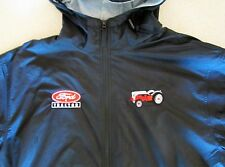 Black Ford 8N & Ford Tractor Logo Full Zip Hooded Jacket w/Pockets