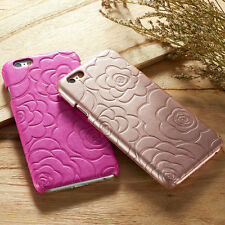 Pretty Designs Floral Flower Style Leather Hard Back Case Cover for Apple iPhone