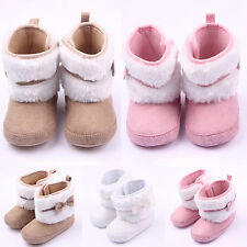 0-18months Baby Girls Winter Warm Snow Boots Hook&Loop Shoes Infant Toddler Kids