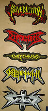 BENEDICTION, CARCASS, DISMEMBER, SKELETONWITCH, VEKTOR Embroidered BACK PATCH