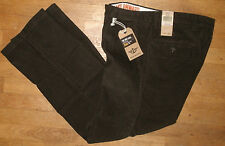 Mens Dockers Soft Khaki Corduroy Pants Jeans D3 Classic Fit Flat Dark Brown New