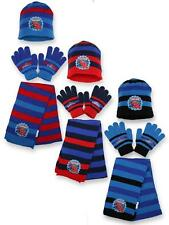 Boys Official Winter Marvel Spiderman Hat Gloves and Scarf Set 3 PCs Set Age 4-8