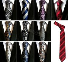 Men Necktie Floral Jacquard Skinny Silk Tie Formal Business Slim Party Wedding