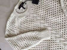 Pull ISABEL MARANT Ecru ASA Open-Knit Baby Alpaca Sweater Cream Sweater NWT NEUF