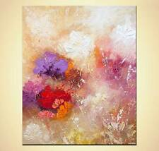 """modern floral abstract painting textured abstract flowers Art by Osnat 48"""""""