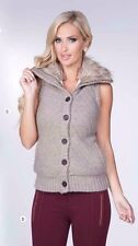 Women fur sweater Buttoned vest stylish jacket S M L XL  Ci Sono Cavalini DV564