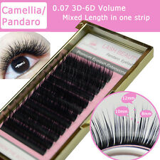 Camellia  Lash 3D6D 0.07 Volume Eyelash Extension Mixed Length in one lash strip