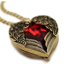 chain vintage red hearts design necklace Wings pendant necklaces JUUS