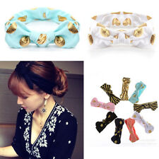 New Fashion Girl Lady Women Turban Knot Rabbit Headband Bow Cotton Hairbands