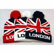 Union Jack London Bobble Beanie Hat - Unisex