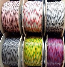 10m Bi-Colour Layout Wire 1.4A 7/0.2 - Standard DC track power/ points / lights