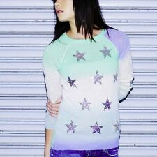 Wildfox Couture Star Gazer Ombre Sequin Party Sweater S/M ~ NWT $248