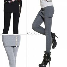 Fashion Women Casual Warm Skinny Leggings Thick Footless Stretch Pants Culottes