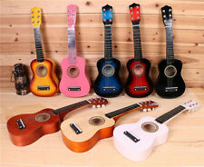21 inch Beginners Practice Acoustic Guitar with Pick 6 String Kids Children Gift