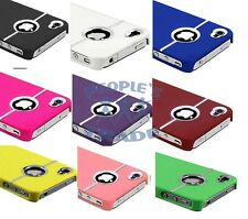New Rainbow Colors Chrome Style Hard Back Skin Case Cover For Apple iPhone 4 4S