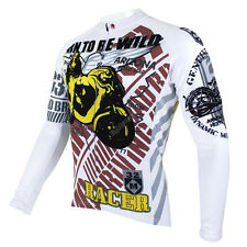 Racer Men Long Sleeve Cycling Jersey Bicycle Bike Sportwear Apparel Rider CX28s
