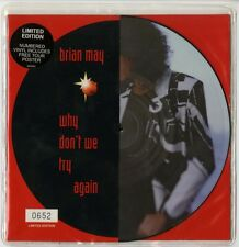QUEEN - BRIAN MAY : SINGLE - WHY DON'T WE TRY AGAIN - PICTURE DISC