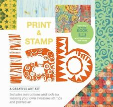 Print and Stamp Lab Kit: A Creative Art Kit, Includes Instruction and Tools for