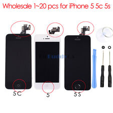 Wholesale 1-20PCS Touch Screen Digitizer&LCD Full Assembly for iPhone 5 5c 5s
