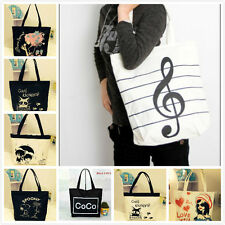 Women Girl's Shopping Shoulder Bags Women Handbag Canvas Bag Tote HandBag purse