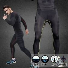 Mens Compression GYM Training Skin Base Layer Long Leggings Fitness Tight Pants