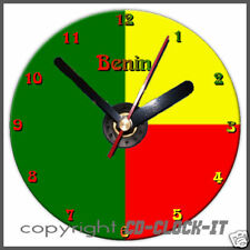 Benin Flag Wall/Desk CD Clock & Stand Plus Personalised Message