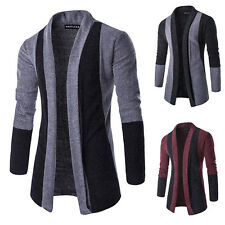 Men's Knitted Cardigan Jacket Slim Casual Sweater Coat Warm Outwear Outcoat Hot