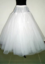 New White 3-Layers Tulle Hoopless Wedding Dress Underskirt/Underdress Petticoat