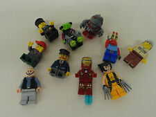 Lot of 10 Lego Mini Figures Mr Crabby Patty Red Rock Monster