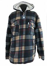 Leisure Work- and Lumberjack jacket Hooded Fleece beige blue checkered M - XXXL