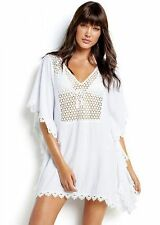 Seafolly Ladies Kaftan Cover up White Lace - BNWT - Size Medium