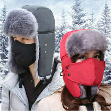 Aviator Bomber Soft Faux Fur Ear Flap Mask Hat Cap Winter Ski Trooper Trapper