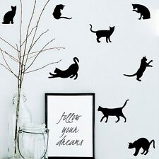 Removable Vinyl Art DIY Quote Cats Wall Sticker Decal Mural Home Room Decor