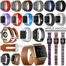 For Apple Watch 2 1 Genuine Leather/Stainless Steel 42mm Magnet Wrist Band Strap