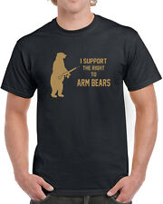 054 Right to Arm Bears mens T-shirt animal lover gun rights funny activist new