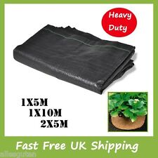 PP Heavy Duty Weed Control Woven Fabric Ground Cover Mulch Membrane Mat 125gsm