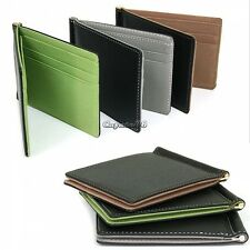 New Mens Leather Wallet Card Coin Holder Purse Pockets Bifold Money Clip Wallets